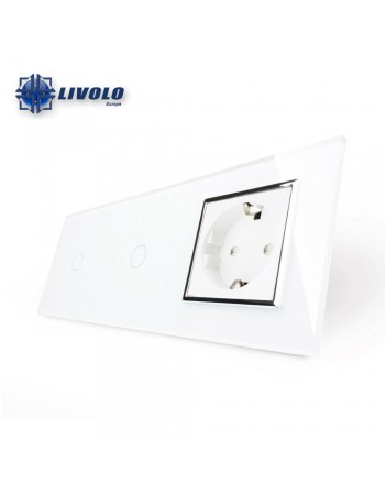 Livolo 1-1 Gang + 1Sockets
