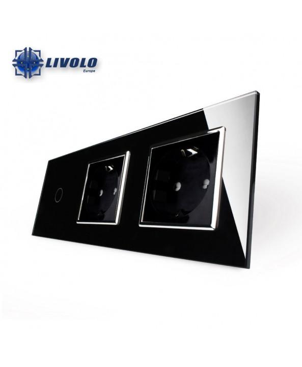 Livolo 1 Gang +  2 Sockets
