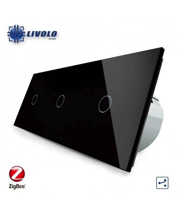 Livolo Triple 1-1-1 Gang - 2 ways - ZigBee