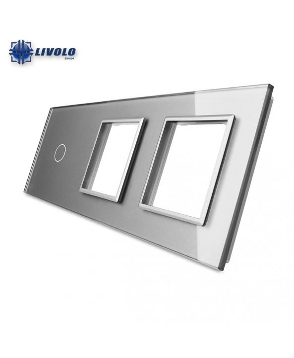 Livolo Triple Crystal Panel 1-S-S